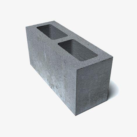 Пескоцементный Блок 390х190х140 Стеновой 2-пустотный