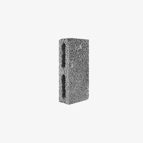 Блок Керамзитобетонный Стеновой Перегородочный 390х80х188 КПР