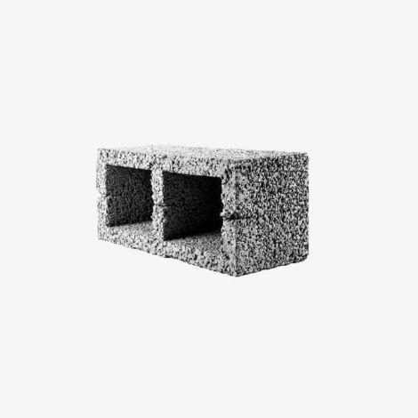 Блок Керамзитобетонный Стеновой 2-Пустотный 390х190х188 КСР-ПР-ПС