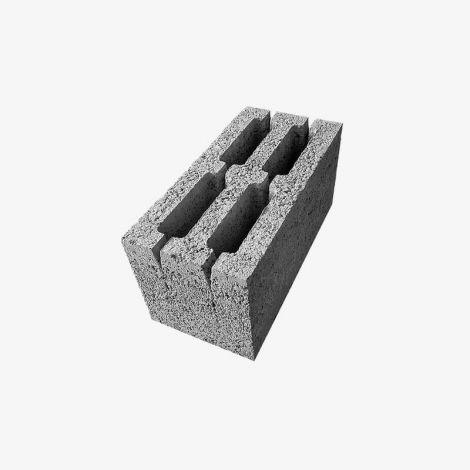 Блок Керамзитобетонный Стеновой 4-Пустотный 390х190х188 КСР-ПР-ПС