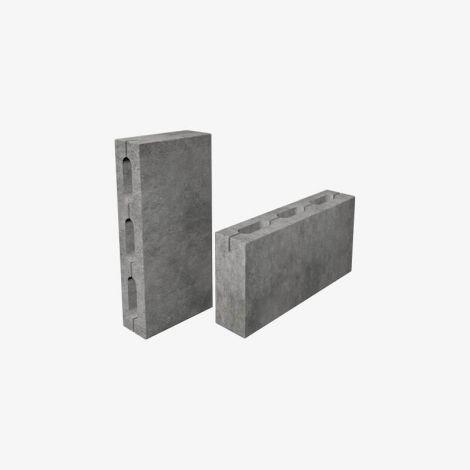 Блок Пескоцементный Перегородочный Пустотелый 390х90х188 КСР-ПР-ПС-39-125-F75-1500