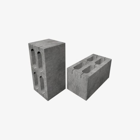Блок Пескоцементный Стеновой Пустотелый 390х190х188 КСР-ПР-ПС-39-125-F75-1200