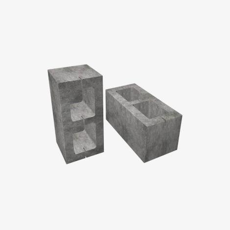 Блок Пескоцементный Стеновой Пустотелый 390х190х188 КСР-ПР-ПС-39-125-F75-1100